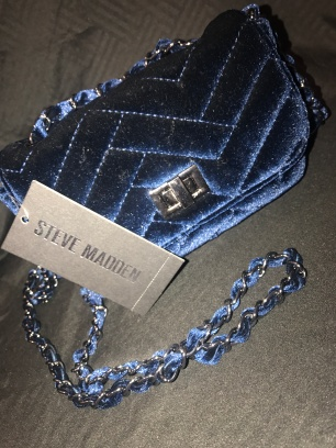Blue Velvet Steve Madden Purse